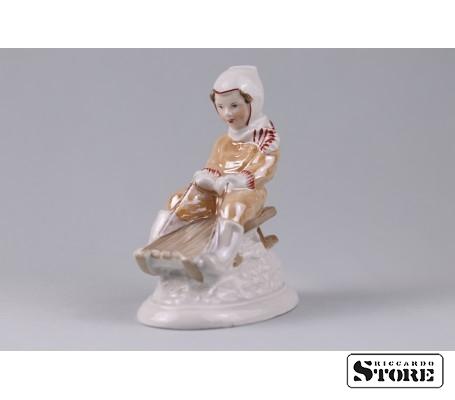 Фарфоровая статуэтка С горки - талисман на хороший отдых вид 2
