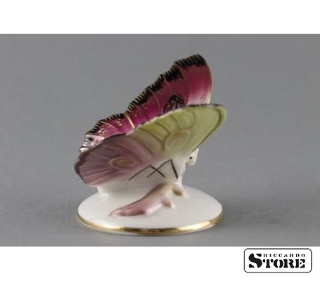 Фарфоровая статуэтка Бабочка, Малиновая. Вид 6