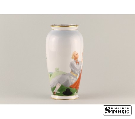 Фарфоровая ваза Кутузовская Народный мотив вид 3