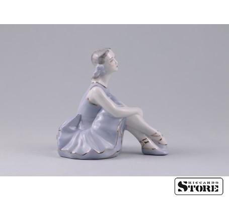 Фарфоровая статуэтка Балерина. Рижский фарфор. (Велта) Вид 4