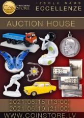 С 15 Июня 2021 года на нашем сайте компанией Coinstore совместно с аукционным домом Eccellenze будет проводиться интернет-аукцион.