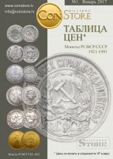Каталог цен на монеты СССР 1921-1991 Coinstore